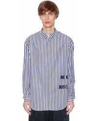 Juun.J Striped Cotton Poplin Shirt Wembroidery
