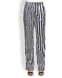 Addition asymmetrical paneled striped wide leg pants medium 67768