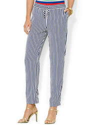 Lauren Ralph Lauren Striped Drawcord Pants