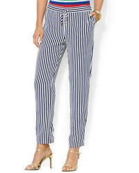 Striped drawcord pants medium 67767