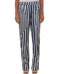 Thakoon Variegated Stripe Satin Pants