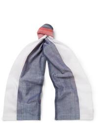Thom Browne Striped Cotton Gauze Scarf