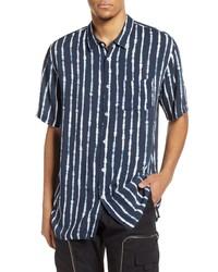 Zanerobe Stripe Short Sleeve Button Up Shirt