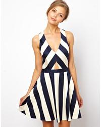 Asos Stripe Skater Dress