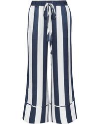 Lee Mathews Ingrid Striped Hammered Silk Satin Pants