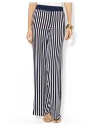 Lauren Ralph Lauren Wide Leg Striped Pants