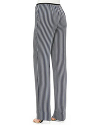 Theory Pajeema Striped Pull On Pants