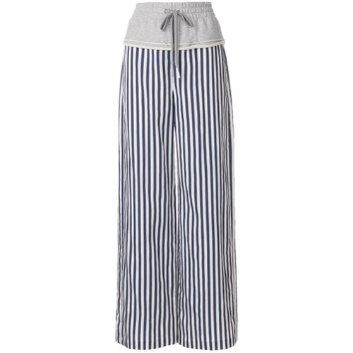T by Alexander Wang Striped Combo Palazzo Pants