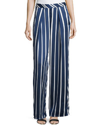 philosophy Strpied Palazzo Pants Navywhite