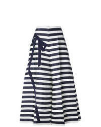 DELPOZO Striped Flared Cropped Trousers