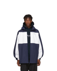 Balenciaga Navy And White Nautical Jacket