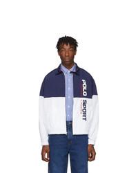 Polo Ralph Lauren Navy And White Windbreaker Jacket