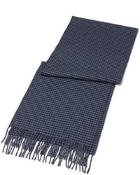 Brooks Brothers Saxxon Wool Houndstooth Scarf