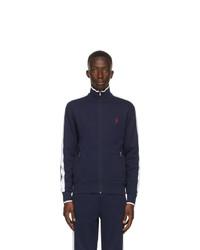 Polo Ralph Lauren Navy Interlock Zip Up Jacket