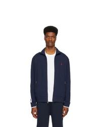 Polo Ralph Lauren Navy Interlock Zip Up Sweater