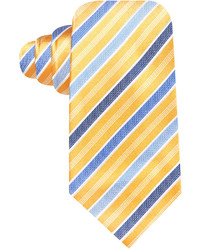 Navy and Yellow Vertical Striped Tie