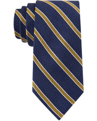 Tommy Hilfiger Navy Ground Stripe Slim Tie