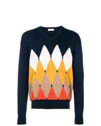 Ballantyne Cashmere Intarsia Knit Sweater