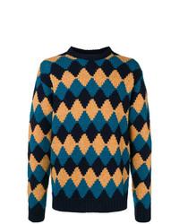 Prada Rhomb Design Loose Sweater
