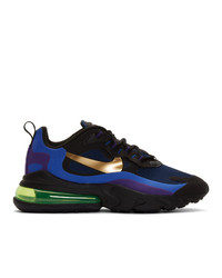 Nike Black And Gold Air Max 270 React Sneakers