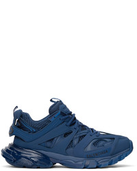 Balenciaga Blue Track Clear Sole Sneakers