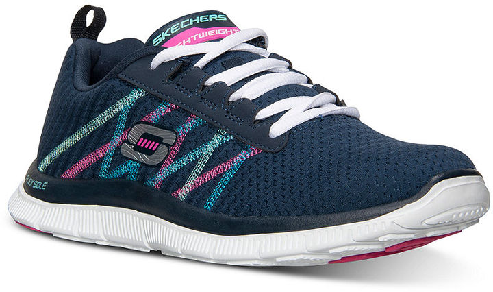 Skechers memory foam Running Shoes Navy