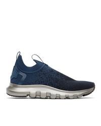 Z Zegna Navy Techmerino Sock 20 Sneakers