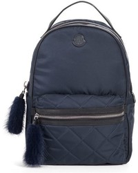 Georgette genuine rabbit trim backpack black medium 767763
