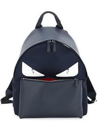 Fendi Monster Eyes Leathernylon Backpack