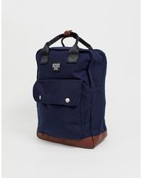 Jack & Jones Smart Backpack With Handle In Navy