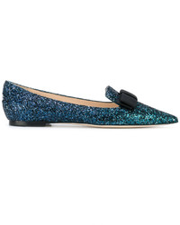 Jimmy Choo Galasao Glittered Ballerina Flats