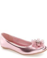 Laura Ashley Girls Crystal Embellished Ballerina Flat