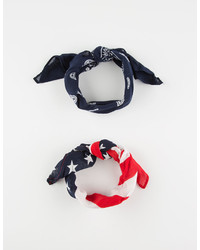2 Pack Americana Bandana Scarves