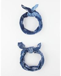 2 Pack Paisley Bandana Scarves