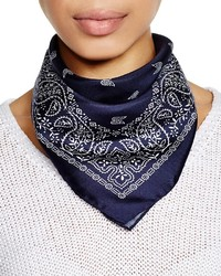 Abstract Silk Square Bandana