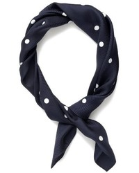Polka dot italian silk scarf medium 3645046
