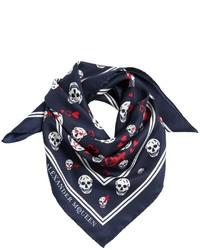 Alexander McQueen Skulls Hearts Silk Twill Bandana