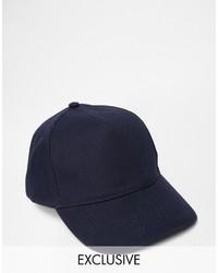 Reclaimed Vintage Baseball Cap In Navy