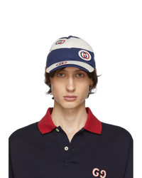 Gucci Blue And White Stripe Cap