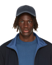 Loro Piana Blue Cashmere Baseball Cap