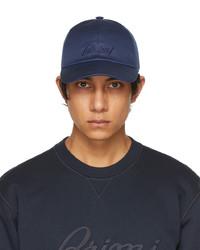 Brioni Blue Logo Baseball Cap