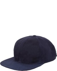 Just Don Suede Baseball Cap Blue