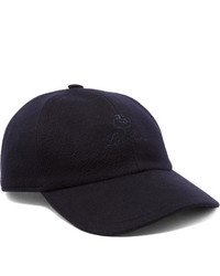 Loro Piana Logo Embroidered Storm System Baby Cashmere Baseball Cap