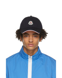Moncler Navy And Red Tricolor Baseball Cap