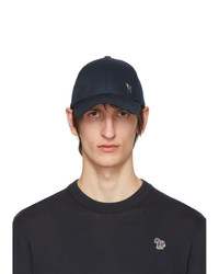 Ps By Paul Smith Navy Zebra Baseball Cap