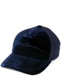 Giorgio Armani Velvet Logo Baseball Cap