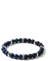 Topman Navy Beaded Bracelet