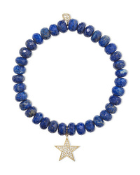 Sydney Evan Star Lapis Lazuli Diamond And 14 Karat Gold Bracelet