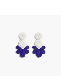 J.Crew Beaded Fan Earrings