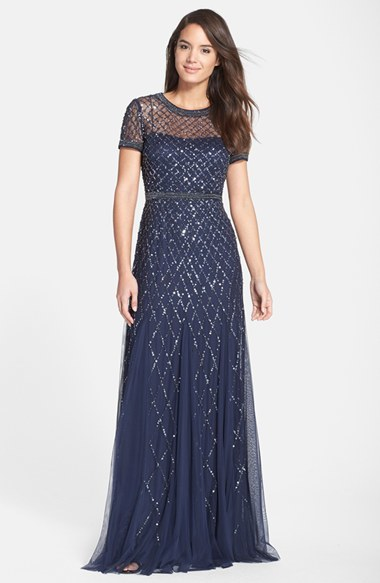 8c2ca8a189af ... Adrianna Papell Beaded Mesh Gown ...